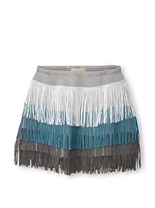Lunchbox Girl's Fringe Skirt (Blue)