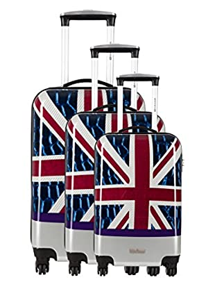 Platinium Set 3 Trolley 4 Ruedas Veniz (Multicolor)