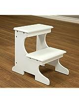 Frenchi Home Furnishing Step Stool, White Finish