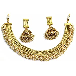 SHINGAR JEWELLERY ANTIQUE GOLD LOOK NECKLACE SET FOR WOMEN (5385-AS-A)