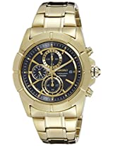 Seiko Chronograph Black Dial Gold-tone Men's Watch (SNDE74)