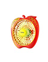 Usha Apple 125mm Portable Fan (Red and Green)