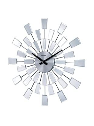 George Nelson Beveled Pixel Clock, Silver