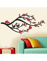 Decal Dzine Heart Leaves Branch Wall Sticker