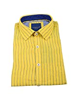 Linen Club Formal Shirt Yellow