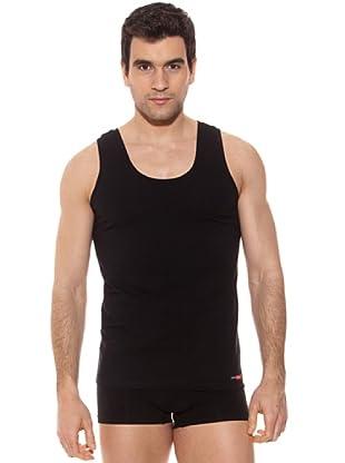 Pierre Cardin Pack 3 Camisetas Tirantes (Negro)