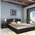 Jacob Queen Bed With Box Storage Wenge from Housefull