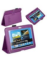 JKase (TM) Ultra Slim Folio Cover Case for Samsung Galaxy Note 10.1 inch Tablet N8000 N8010 16G 32G 3G 4G Wifi, Purple