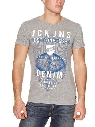 JACK & JONES Camiseta Fletch S/S (Gris)