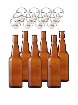 Kilner Set of 6 Home Brew .75L/25 fl oz. Bottles with Swing Tops