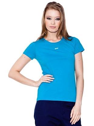 Esprit Camiseta Crew (Turquesa)