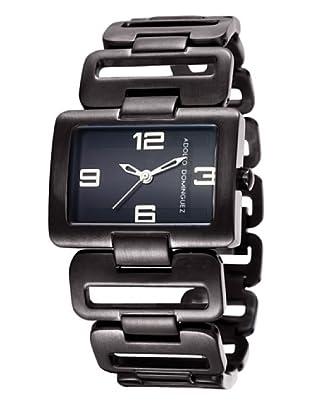 Adolfo Dominguez Watches 69010 - Reloj de Señora cuarzo brazalete metálico dial Negro