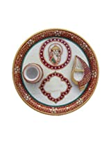 ArtZolo Pooja Thali With Ganesha Craft Original Art