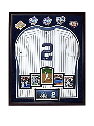 Steiner Sports Memorabilia Framed Elite Derek Jeter Autographed Yankees Jersey With Career Moments & Patches