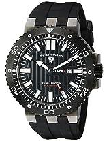 Swiss Legend Men's 10126-GM-01-BB Challenger Black Textured Dial Black Silicone Watch