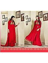 Shree Fashion Woman's Georgette With Dupatta [Shree (110)_Red]