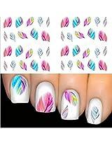 1sheet Feather 3d Nail Art Water Decal Sticker Tips Decoration Women Accessories