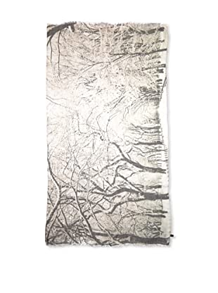CHIC Women's Central Park Snow Fall Digital Woven Viscose Scarf, Snow, One Size