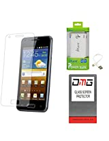 DMG Premium Shatter Proof Tempered Glass Ultra Clear Screen Protector for MICROMAX TAB P666 + 6600 mAh Power Bank