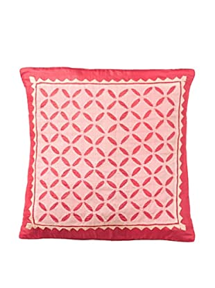 Mela Artisans Serenity in Rose Silk Cushion Cover, Pink,