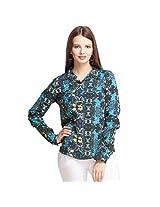 Oxolloxo Women's Floral Shirt