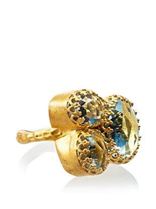 Kevia Rococo Blue Topaz Cluster Ring