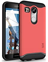 TUDIA Slim-Fit MERGE Dual Layer Protective Case for Nexus 5X [With Microphone Cutout] (2015) (Rose)