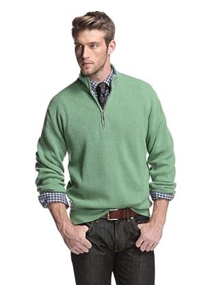Oxxford Men's Half-Zip Sweater (Green)