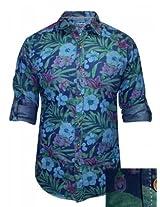 Spykar Blue Casual Printed Shirt