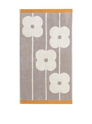 Orla Kiely Flower Abacus Bath Sheet, Mushroom