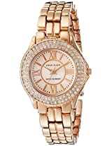 Anne Klein Women's 10/9536RMRG Swarovski Crytals Accented Rose-Gold Tone Bracelet Watch
