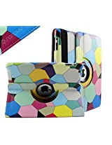 SANOXY 360 Degree Rotating Stand PU Leather Case Cover with Auto Sleep / Wake Feature for iPad 2/3/4 (MOSAIC)