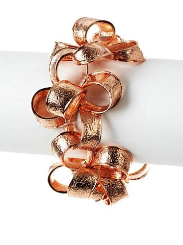 Tuleste Market Ribbon Bracelet, Rose Gold