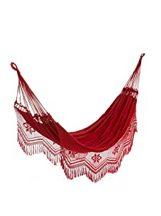 NOVICA Cotton Hammock (Red Rio Sensation)
