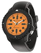 Columbia Black PU Analog Men Watch CA014 030