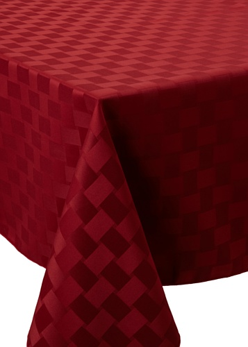 Bardwil Reflections Square Tablecloth (Merlot)