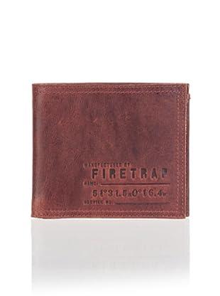 Firetrap Billetera Grabado (Marrón)