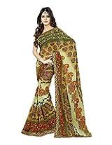 Raj Laxmi Women's Georgette Saree (Brown)