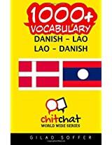 1000+ Danish - Lao, Lao - Danish Vocabulary