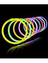 Gifts Online Glow Sticks Bands - Premium Lumistick Bracelets - 50 Pcs Set Assorted Colours