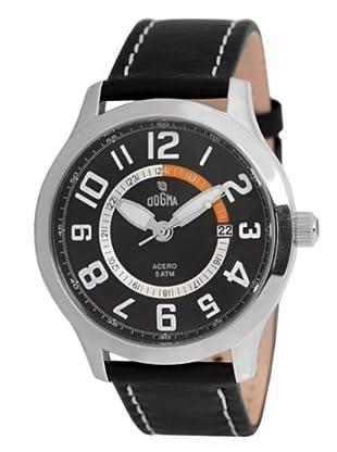 Dogma G7030 - Reloj de Caballero movimiento de quarzo con correa de piel naranja