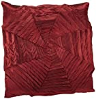 Shahenaz Home Shop Kyrah Plitted Web Poly Dupion Cushion Cover - Red