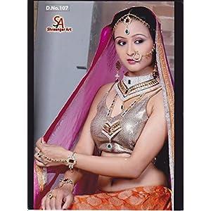 NAK's Gold Finish Bridal Dulhan 8 Piece Necklace Set,Bollywood Wedding Jewellery