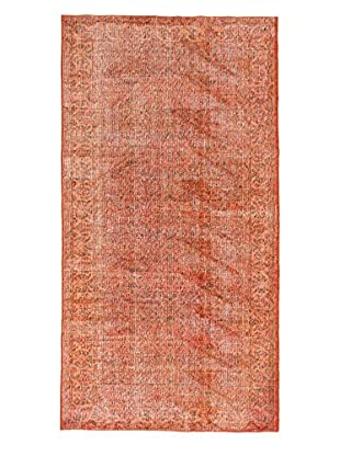 eCarpet Gallery One-of-a-Kind Hand-Knotted Color Transition Rug, Dark Orange, 5' x 9' 6
