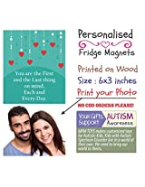 MFM TOYS 'You are the First...' 6x3 inch Photo Fridge Magnet - Valentines Gift Special FREE GIFT WRAP & CUSTOM LABEL!
