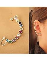 Ashiana Rainbow Rhinestone Wrapping Ear Cuff
