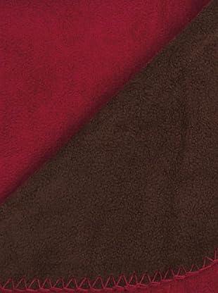 Icelands Manta Polar Bicolor (Chocolate / Rojo)