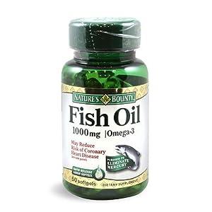 Nature'S Bounty Omega-3 Fish Oil 1000Mg Cholestrol Free, 110 Softgels