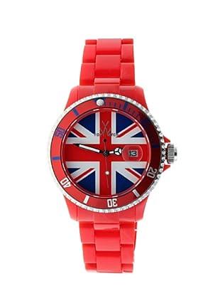 ToyWatch TUJ03RD - Reloj Unisex movimiento de Cuarzo con correa de plástico rojo