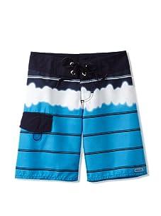 Azul Swimwear Boy's Tie Dye Boardshorts (Blue)
